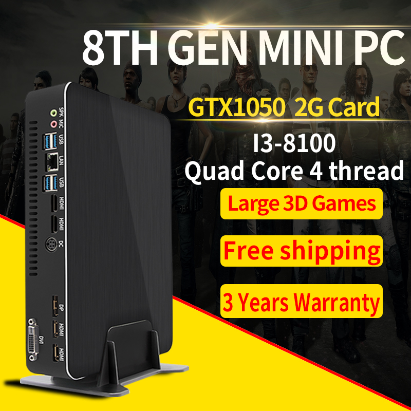MSECORE I3 8100 GTX1050 Dedicated Card DDR4 Mini PC Windows 10 Desktop Computer Gaming Barebone Linux Intel Nettop HTPC 4K Wifi