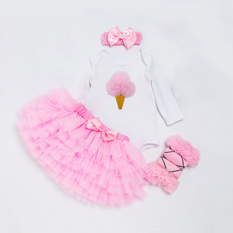 1st/2nd Birthday Party Costume Baby Girl Clothing Set For Toddler Girls Fluffy Tutu Skirts+Bodysuit+Shoes+Headband Kids Outfits newborn toddler girls summer t shirt skirt clothing set kids baby girl denim tops shirt tutu skirts party 3pcs outfits set