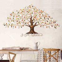 Americano retro ferro rico árvore decoração de parede decoração de parede para casa sala de estar decoração de parede acessórios de decoração de casa arte da parede art accessories art wall art wall decor -