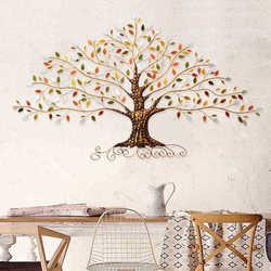 Amerykański retro żelaza bogate drzewo dekoracje ścienne dekoracje ścienne salon dekoracja ścienna akcesoria do dekoracji wnętrz Wall Art w Posągi i rzeźby od Dom i ogród na