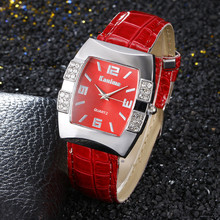 Personality Barrel-shaped Arabic Digital Rhinestone Scale Belt Ladies Watch Quartz Watch Multiple Colors