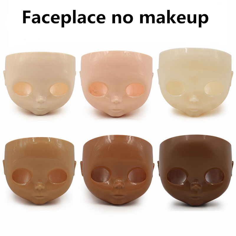 1/6 Blyth Pop Faceplate Met Backplate Geen Make-up Gezicht En Schroef