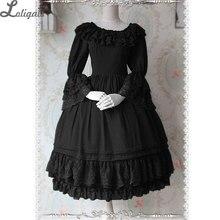 Wunderschöne Benutzerdefinierte Zugeschnitten Klassische Lolita Kleid Rüschen Aufflackernhülse Chiffon Vintage OP Kleid durch Infanta