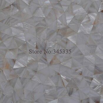 Natural river shell mosaic tile mother of pearl  kitchen backsplash tile bathroom wallpaper decorative tiles triangle pattern