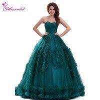 Александра темно зеленый бальное платье Пышное Платье Милая 16 оборками Великолепная Пышное