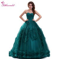 Alexzendra Dark Green Ball Gown Quinceanera Dresses Sweetheart 16 Ruffles Gorgeous Quinceanera Dresses