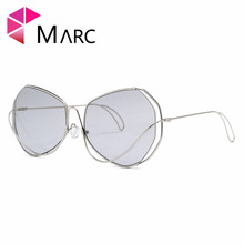 MARC 100%UV400 2018NEW WOMEN MEN Fashion Sunglasses Driving Red Resin Alloy Goggle Gafas Sol