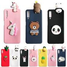 For Samsung Galaxy A6 A7 A8 A9 2018 case 3D Unicorn Bear Panda Soft Silicone cover A750 A9S Plus