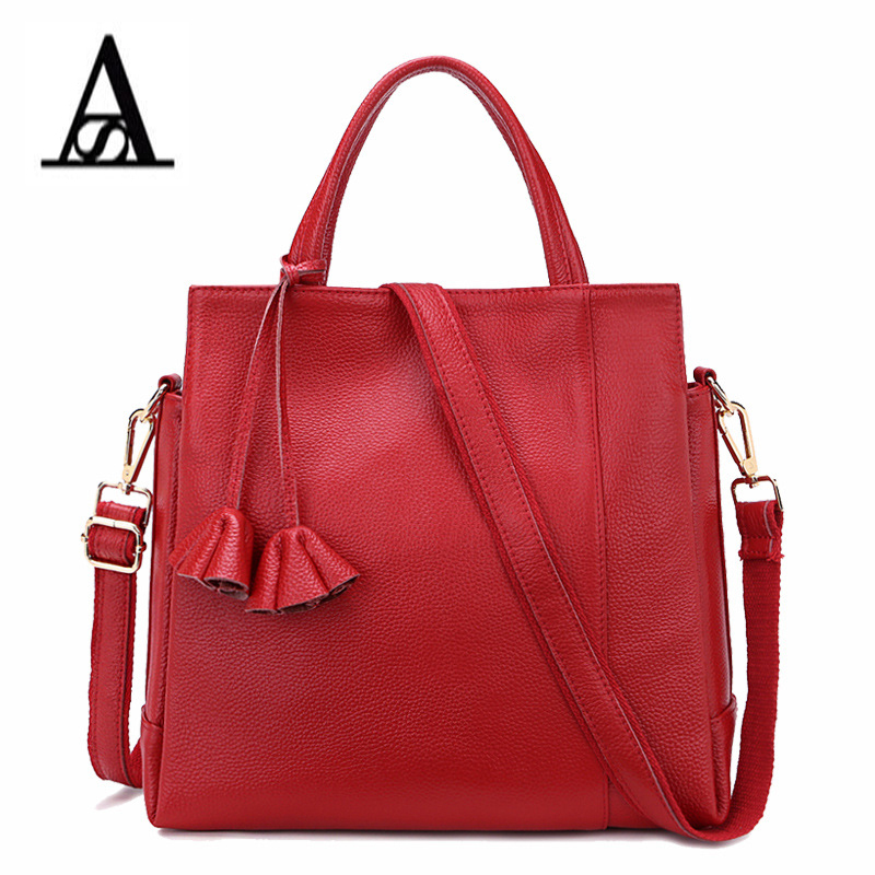 Aitesen luxury genuine Leather handbag designe soft handbag women female louis tote bag bolsas feminina bolsas de marcas famosas women fashion rivet punk style handbag ladies grace elegant luxury messenger bag bolsas de marcas famosas feminina cymakaxa1004d