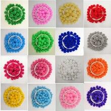 300pcs 10mm Multicolor Soft Fluffy Pom Ball Handmade Pompom For Kids Toys DIY Craft Supplies