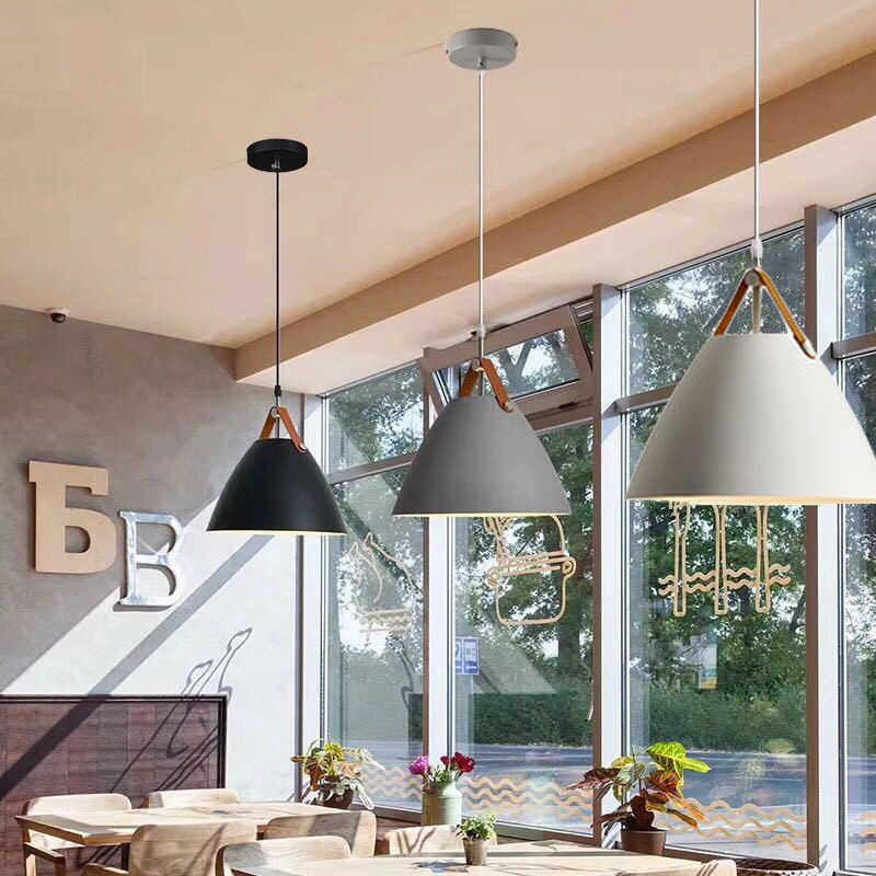 Black Pendant Lights Kitchen Island Light Bar White Modern Pendant Lighting Study Bedroom Gray Pendant Ceiling Lamp Include Bulb Aliexpress