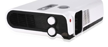 WZATCO Polarized 3D Read imax Full HD Dual lens Portable LED Projector 2700ANSI Lm overhead for home theater, KTV, Coffee shop 1