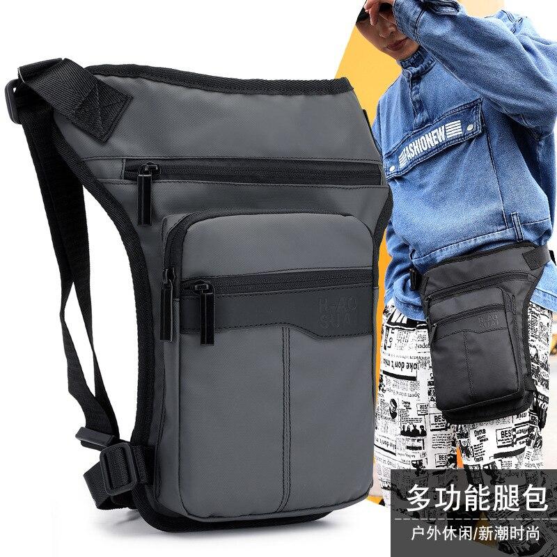 New Men's Sports Chest Bag Outdoor Riding Pockets Leg Bag Fashion Simple Multi-function Waterproof Single Shoulder Messenger Bag