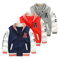 Male child color block decoration baseball uniform child sports top 2017 spring children's clothing letter baby outerwear