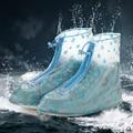 2017 Reutilizable Transparente Zapatos Impermeables Cubren Hombres Mujeres Impermeable Chanclos Antideslizantes PVC Galochas Unisex Zapatos Para la Lluvia Cubren