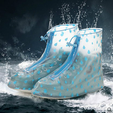 2017 Transparent Reusable Waterproof Shoes Cover Men Women Waterproof Non Slip Overshoes PVC Galochas Unisex Rain Shoes Cover