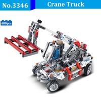 DIY 480pcs Legoing Technic Crane Bucket Truck Telehandler Building Blocks Model Bricks Compatible With Legoingly Toys For Kids