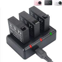 Original KingMa Xiaomi Yi 4K Battery 3PCS 1400mAh Battery And 3 Channel USB Charger For XiaoYi