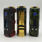 Marvec ECC EXPO Limited Version CA USA Priest 21700 Stabilized Wood Resin Stitching Box Mod with Authentic Evolv DNA 75 Chip