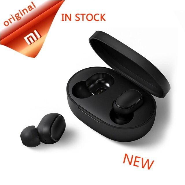Xiao mi czerwony mi AirDots słuchawki bluetooth mi ni prawdziwe mi bezprzewodowa Bluetooth 5.0 słuchawki DSP aktywne redukcji szumów słuchawki douszne