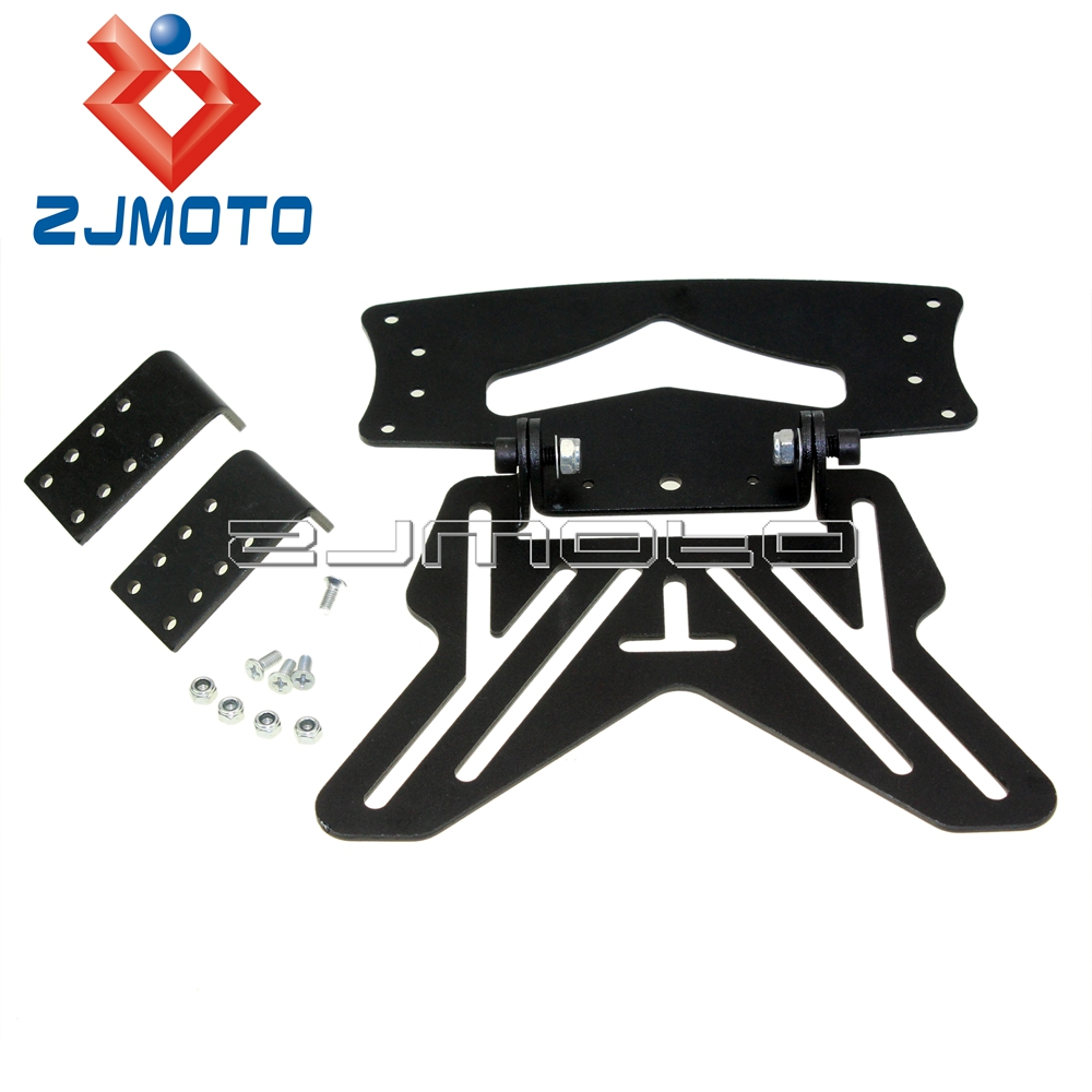 Glass Plate Hanger Us 17 08 5 Off Motorcycle Number Plate Universal Aluminum Black Number Plate Hanger Bracket Registration Plate Holder In Covers Ornamental