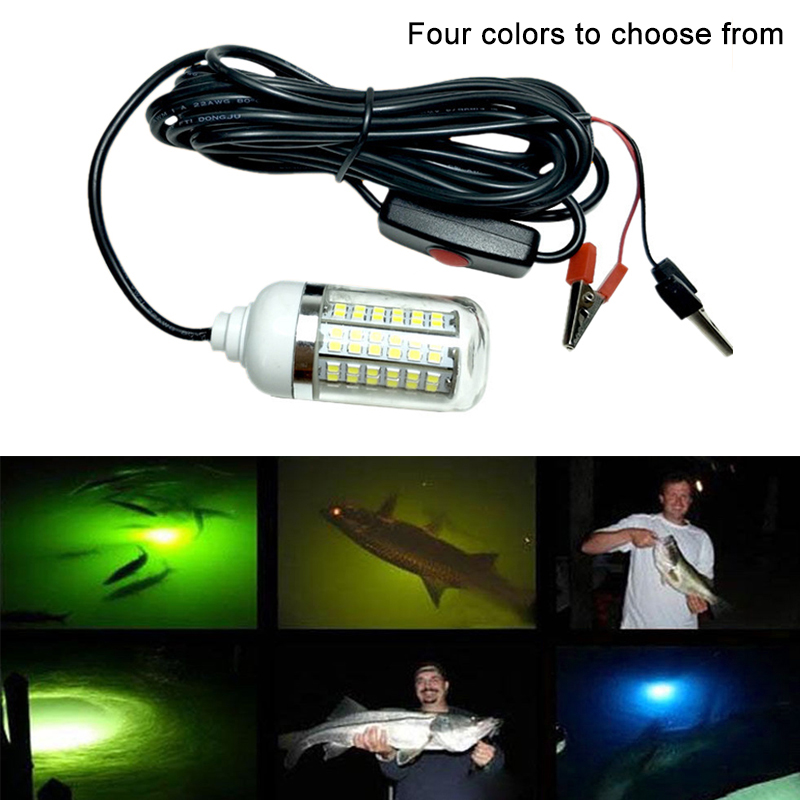 Купить с кэшбэком 12V 15W LED Submersible Underwater IPX8 Waterproof Night Fishing Light Boat Lamp Outdoor Attracts Prawns Squid Krill