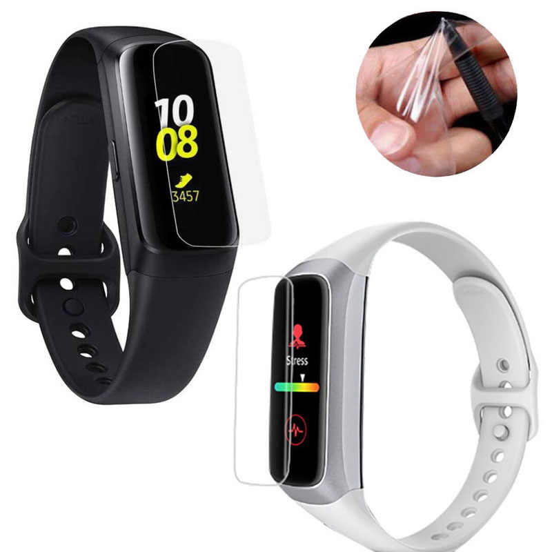 5pcs TPU Soft Full  Protective Film Guard For Samsung watch Galaxy Fit R370/ Fit-e R375 Smart Wristband Screen Protector Cover
