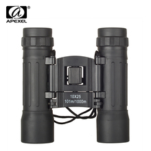 APEXEL 10x25 Small Compact Folding Binocular Telescope for World Cup C