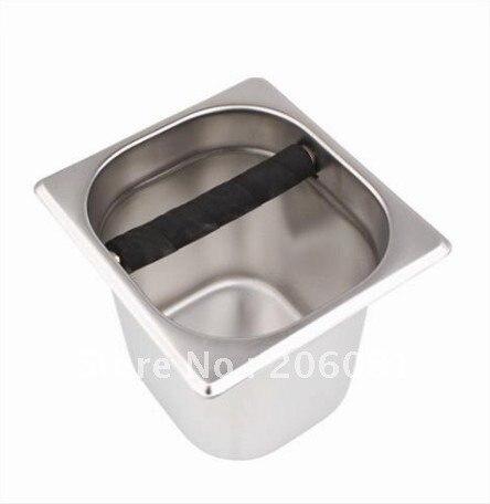 Кофе эспрессо стук коробка/молотый кофе коробка/кофе groud ведро (нержавеющая сталь и Tech) с тяжелой (10 см высота)