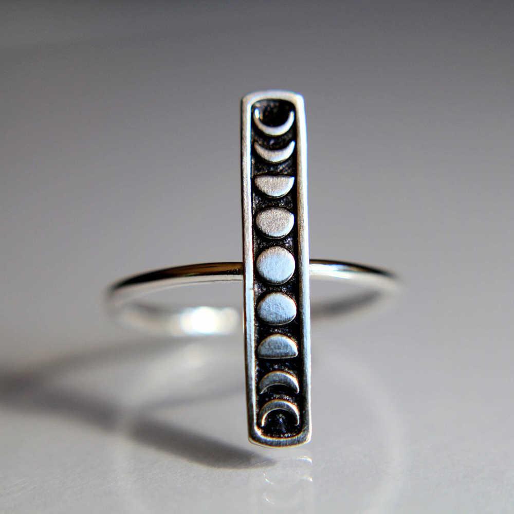 ZHOUYANG แหวนสำหรับชายหญิงประณีตทำด้วยมือคุณภาพเงินสีบุคลิกภาพดวงจันทร์ Eclipse แหวนแฟชั่นเครื่องประดับ KCR218