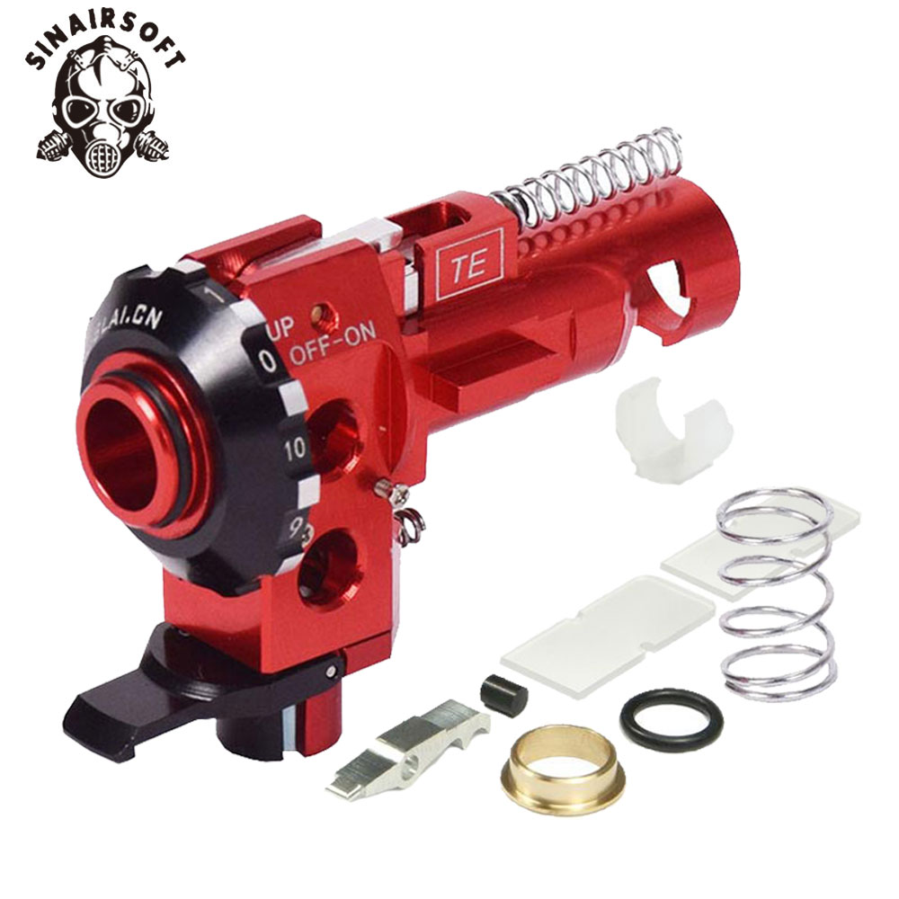 Купить с кэшбэком Tactical High Precision PRO AEG CNC Aluminum Red Hop Up Chamber For M4 M16 Airsoft Hunting Accessories Paintball Target Shooting