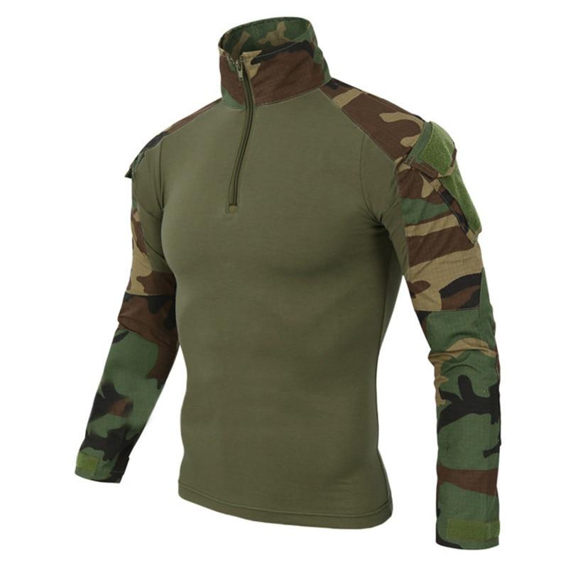 Mege Военная Униформа Мультикам армейская рубашка форма Тактический рубашка с налокотниками Камуфляж Охота Одежда маскировочный костюм Топ
