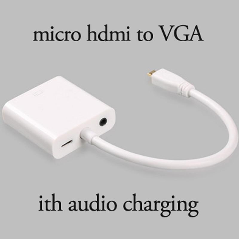 Mini Video Kabel High-definition Lijn Auto Micro Hdmi Naar Vga Lijn met USB Connector met Audio Computer Projector VGA-Interface