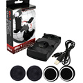 2 in 1 Mini Charger Double charging Dock Station Port Base+ 4x Joystick Caps For PS3 Controller  for L/R PS Move Controller
