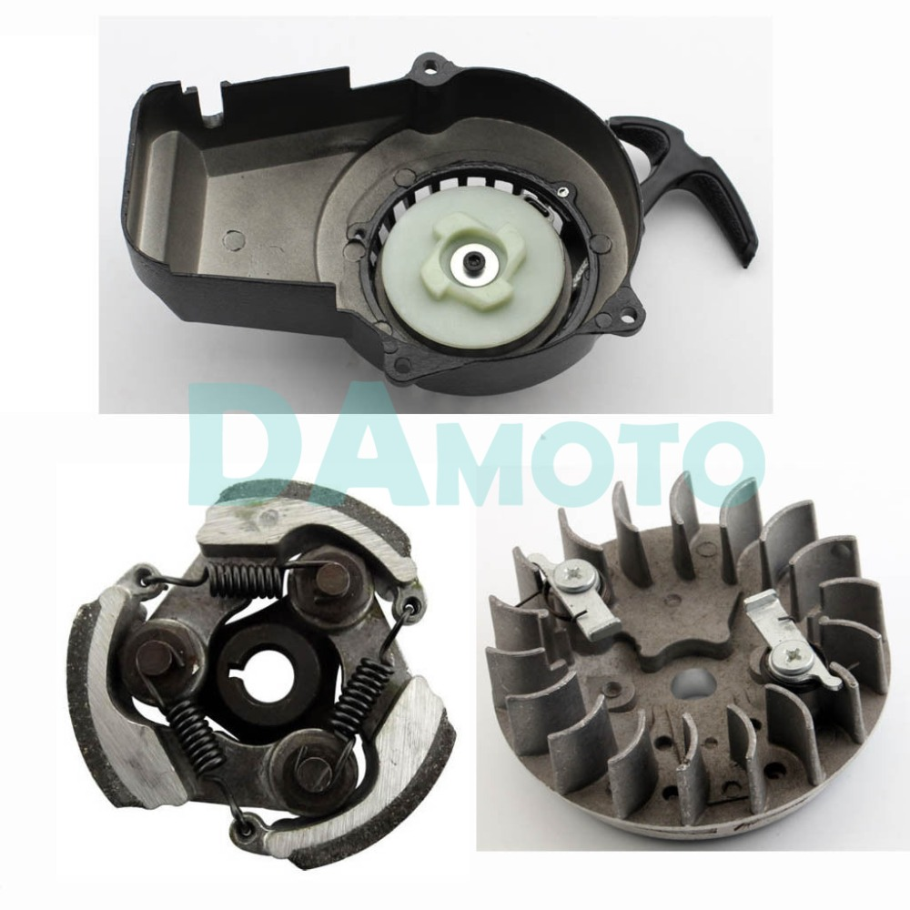 medium resolution of alloy pull start flywheel clutch 49cc dirt mini pocket atv quad bike scooter in engine cooling accessories from automobiles motorcycles on