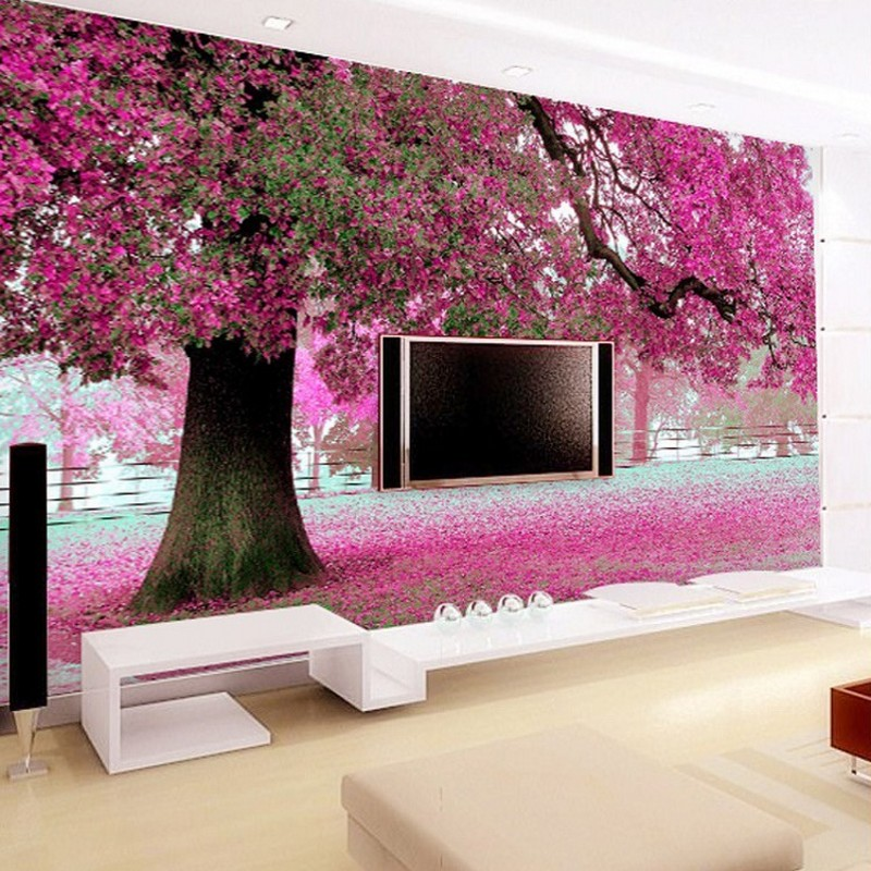 Online get cheap purple sofas alibaba group for 3d mural wallpaper