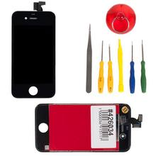 display assembly with touchscreen and set tools for Apple for iPhone 4, black