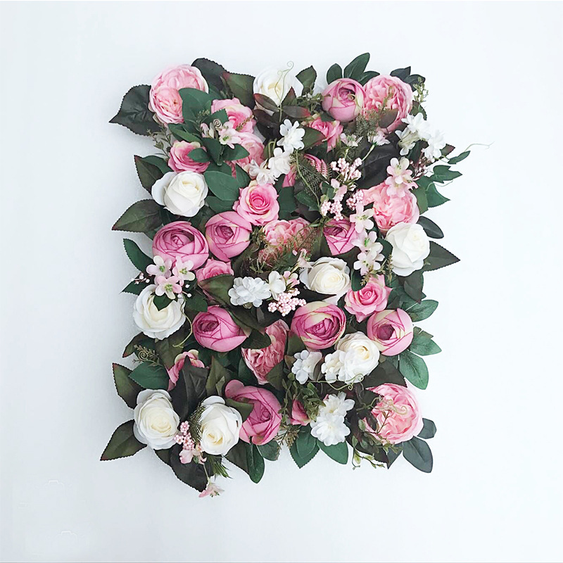 JAROWN Artificial Flower Row Simulation Rose Peony Hydrangea Background Wall Fake Flowers Wedding Feast Arrangement Props Flores (4)