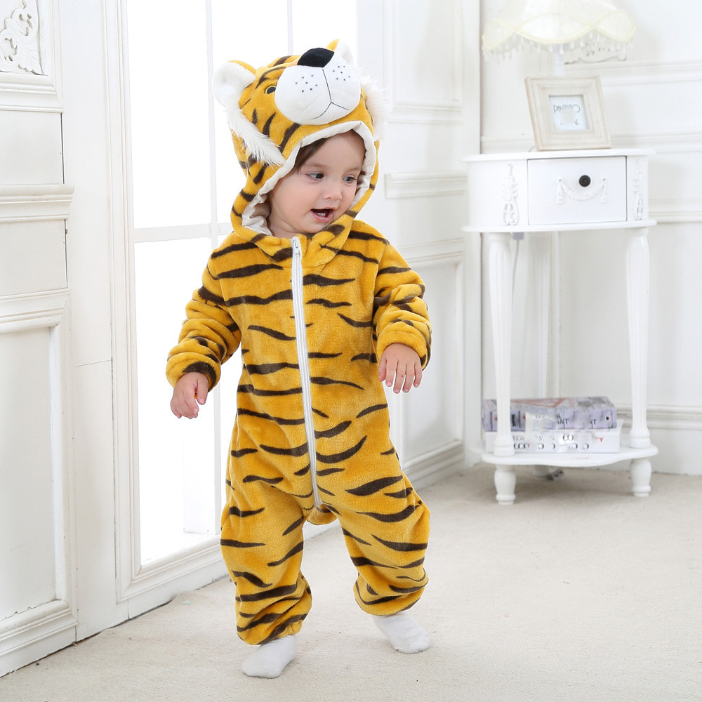 Toddler Newborn Baby Boys Girls Animal Cartoon Hoodie Rompers Outfits Clothes Long sleeve Tiger Baby Rompers Warm Best Gift cotton baby rompers set newborn clothes baby clothing boys girls cartoon jumpsuits long sleeve overalls coveralls autumn winter