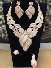 GODKI Big Luxury Flower Blossom Super Shiny Women Wedding Cubic Zirconia Necklace Earring Saudi Arabia Jewelry Set  Addiction