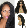 Glueless Full Lace Human Hair Wigs For Black Women Brazilain Kinky Straight Human Hair Wigs 180% Density Lace Front Wig 6A Grade