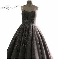 Leeymon вечернее платье с высоким горлом темно серого цвета вечернее платье блестящее вечернее платье 2019 блестящее вечернее платье со стразам