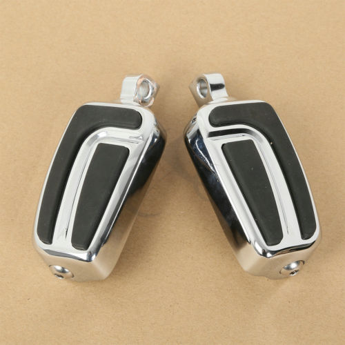 TCMT Motorcycle Left Right Male Mount Footpegs Footrest For Harley FLH Touring Electra Road Glide FLST