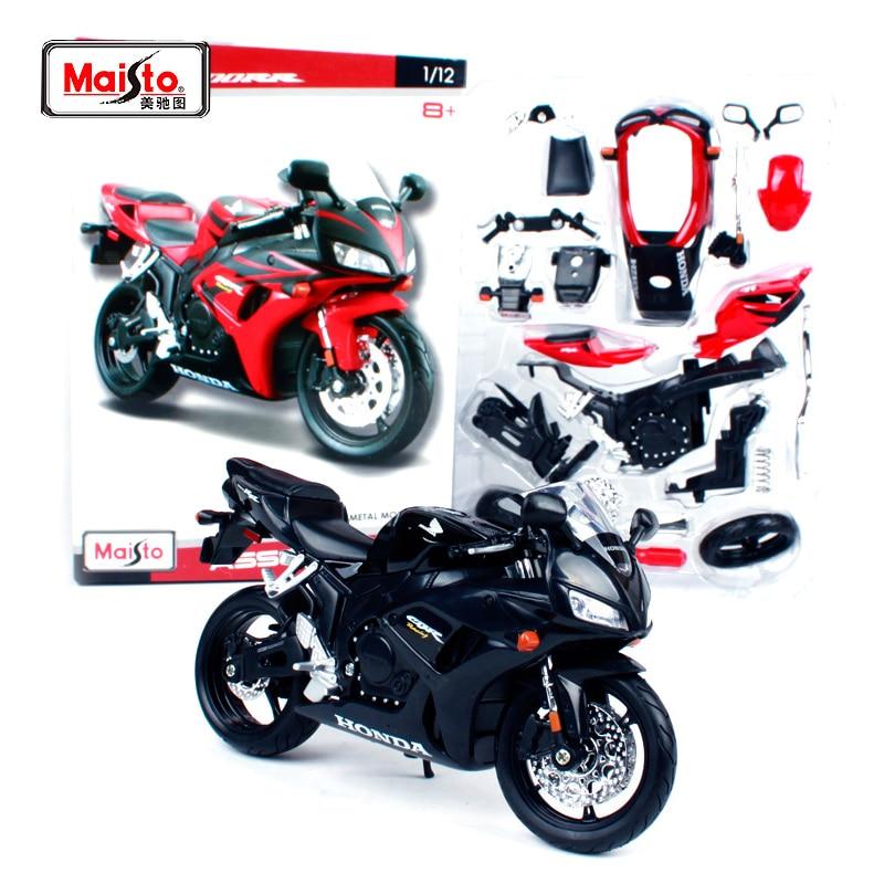 Maisto 1:12 Honda CBR600RR Assemble DIY Motorcycle Bike Model Toy Blue New