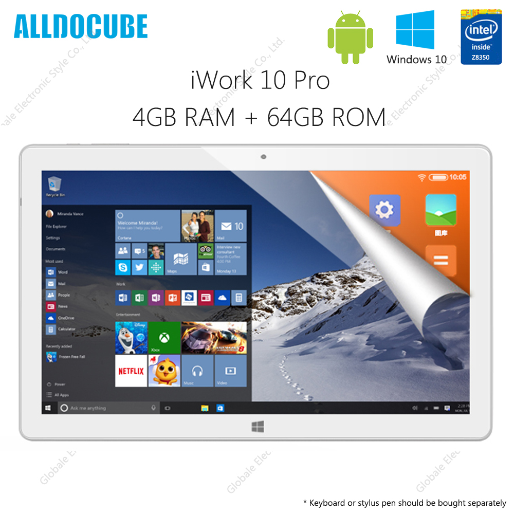 Originale ALLDOCUBE iWork 10Pro Tablet PC Android 5.1 10.1 pollice Intel x5-Z8350 Quad Core 4 gb di RAM 64 gb ROM HDMI