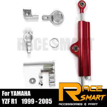 For YAMAHA YZF R1 2009 - 2010 6061-T6 Aluminum Motorcycle Damper Steering Stabilize Damper Bracket Mount Kit Safety Control