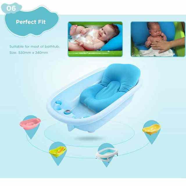 Online Shop Newborn Baby Bathtub Soft Seat Pad Bloom Bath Mat Baby ...