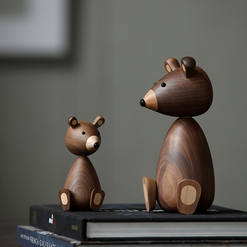 Russia Little bear wood ornaments for decor squirrel for furniture wood crafts shipping small gifts wood bear toy ornament home 1