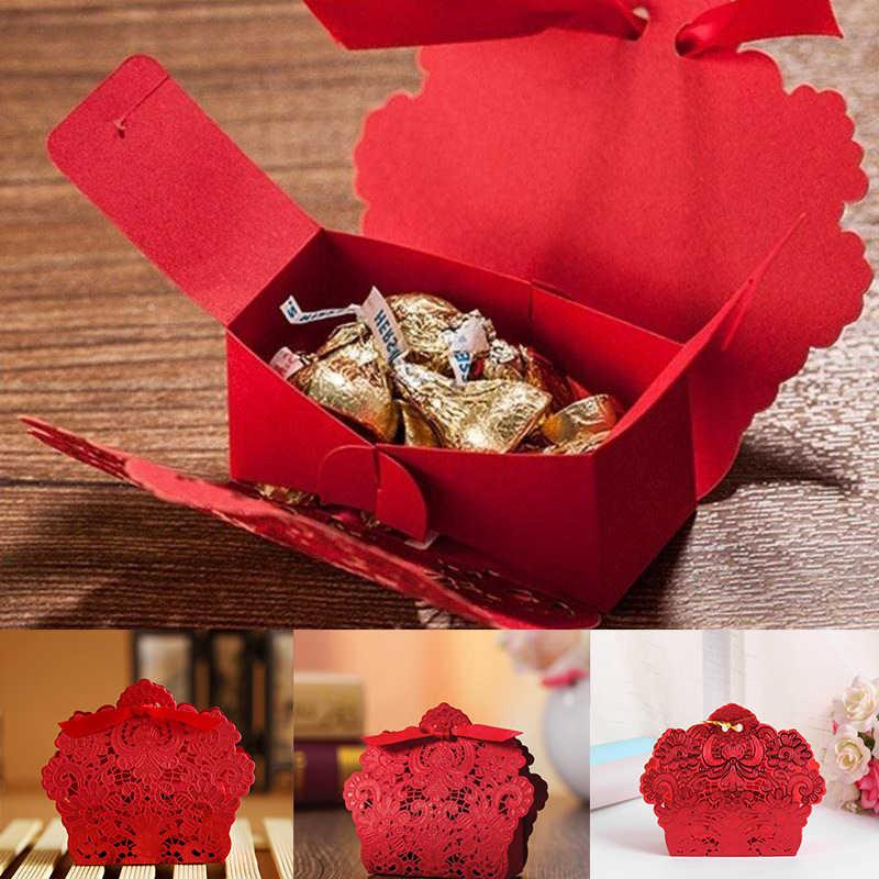 25pcs Esculpida Oco Bolo de Folha de Ouro Caixa de Doces de Casamento Favor Do casamento Embalagem Caixa De Presente Do Chuveiro de Bebê Do Partido Evento Suprimentos