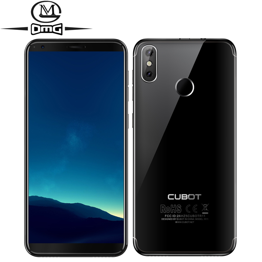 "Cubot R11 Android 8.1 5.5"" 3G Smartphone 18:9 HD+ Screen MT6580 Quad Core Mobile Phone 2G RAM 16G ROM Dual Back Cams Cell Phone"